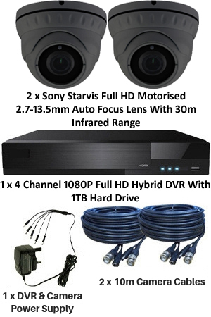 Sony Starvis & Motorised 2 7-13 5mm Ball Dome 2/3 Camera System