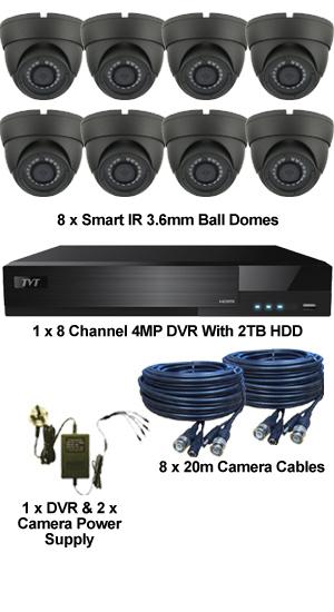 Complete TYT TVI Full HD 1080P 8 Camera Sony Starvis System