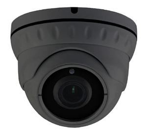 5MP 2.7-13.5m Motorised 30m IR Ball Dome, Supports TVI, AHD, CVI and Analogue Outputs. Grey