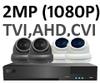Sony 1080P 3.6mm TVI Full HD 8 Camera System with Black Box XVR