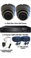 2 x Smart IR Full HD 1080P Grey 3.6mm Lens Dome & Pro Series DVR System
