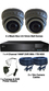 2 x Smart IR Full HD 1080P Grey 2.8-12mm Lens Dome & TYT Pro Series DVR System