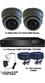 2 x Smart IR Full HD 1080P Grey 2.8-12mm Lens Dome & Pro Series DVR System