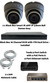 Complete Ultra HD IP 4.0MP Black Box 2 Camera Seperate POE Mini Grey Dome System