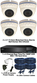 Complete 1080P 4 Camera Motorised 2.7-13.5mm White Ball Dome Sony Starvis System