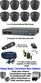 8 X 1.0 MP SONY AHD Varifocal IR Dome & TYT 720P DVR kit
