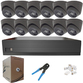 IP Analytic 5MP 12 Camera System with PoE. Several Camera Colour and Style Options