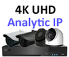 IP Analytic 4K 2 or 3 Camera PoE System H.265 Compression. Several camera options