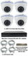 Complete Ultra HD IP 4.0MP 4 Camera POE Varifocal White Dome System