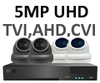 5MP AHD 3.6mm Mini Ball Dome 8 Camera System. Several Camera Colour & Style Options