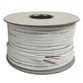 100m Mini White RG59 Coax With Power Cores Suitable For All Hi Definition Installations