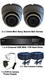 Complete TYT TVI Full HD 1080P 2 Camera 3.6mm Mini Ball Dome Sony Starvis System