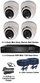 TYT TVI Full HD 1080P 4 Camera 3.6mm Mini Ball Dome Sony Starvis System White
