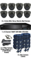 Complete TYT TVI Full HD 1080P 8 Mini IR Ball Dome Sony Starvis System Grey