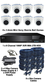 TYT TVI Full HD 1080P 8 Camera 3.6mm Mini Ball Dome Sony Starvis System