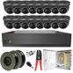 Sony Starlight Motorised 2.7-13.5mm Ball Dome 16 Camera System.
