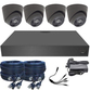 4K Analytic Coax 2.8mm Fixed Ball Dome 4 Camera System