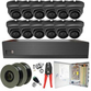 Sony Starlight 2MP 3.6mm Fixed Ball Dome 12 Camera System