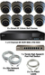 Complete Ultra HD IP 4.0MP (2560 x 1440) 8 Camera POE System