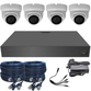 Sony 3.6mm 1080p Mini Infrared Ball Dome 4 Camera System