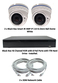 Complete Ultra HD IP 4.0MP Black Box 2 Varifocal White Dome Camera POE System