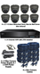 Complete 1080P 8 Camera Motorised 2.7-13.5mm Grey Ball Dome Sony Starvis System