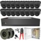 Sony Starlight 2MP 3.6mm Fixed Ball Dome 16 Camera System