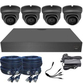 Black Box 3.6mm 1080p Mini Infrared Ball Dome 4 Camera System Grey