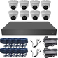 Sony 3.6mm 1080p Mini Infrared Ball Dome 8 Camera System