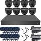 Black Box 3.6mm 1080p Mini Infrared Ball Dome 8 Camera System
