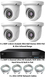 TYT IP Analytic 4MP Fixed 2.8mm Lens. 4 Camera System with Built-In PoE