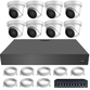 IP Analytic 4MP 3.3-12mm Motorised Ball Dome 8 Camera External PoE System