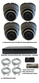 Complete Ultra HD IP 4.0MP Black Box 4 Camera Seperate POE Mini Grey Dome System