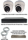 Complete Ultra HD IP 4.0MP Black Box 2 Camera Seperate POE Mini White Dome System