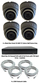 Complete Ultra HD IP 4.0MP Black Box 4 Camera POE Mini Grey Dome System