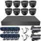 5MP Varifocal 2.8-12mm Ball Dome 8 Camera System. Camera Colour Options