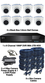 Christmas Special 8 x Smart IR White 3.6mm Lens 1080P Dome Camera & TYT DVR Kit