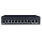 Black Box 8-Port PoE 10/100M + 2-Port 10/100/1000M Switch