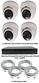 Complete Ultra HD IP 4.0MP Black Box 4 Camera POE Mini White Dome System