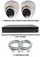 Complete Ultra HD IP 4.0MP Black Box 2 Camera POE Mini White Dome System