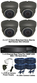 Complete 1080P 4 Camera Motorised 2.7-13.5mm Grey Ball Dome Sony Starvis System