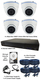 4 x Smart IR Full HD 1080P White 3.6mm Lens Dome & TYT Pro Series DVR System