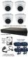 Christmas Special 4 x Smart IR White 3.6mm Lens 1080P Dome Camera & TYT DVR Kit