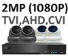 2 x Smart IR Full HD 1080P Internal 3.6mm Lens Dome & TYT Pro Series DVR System