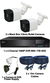2 x Smart IR Full HD 1080P Mini 3.6mm Lens Bullet & TYT Pro Series DVR System